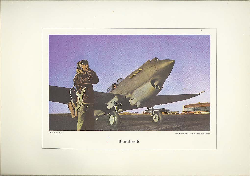 Curtiss P-40 Pursuit Tomahawk print Curtiss-Wright 1940s