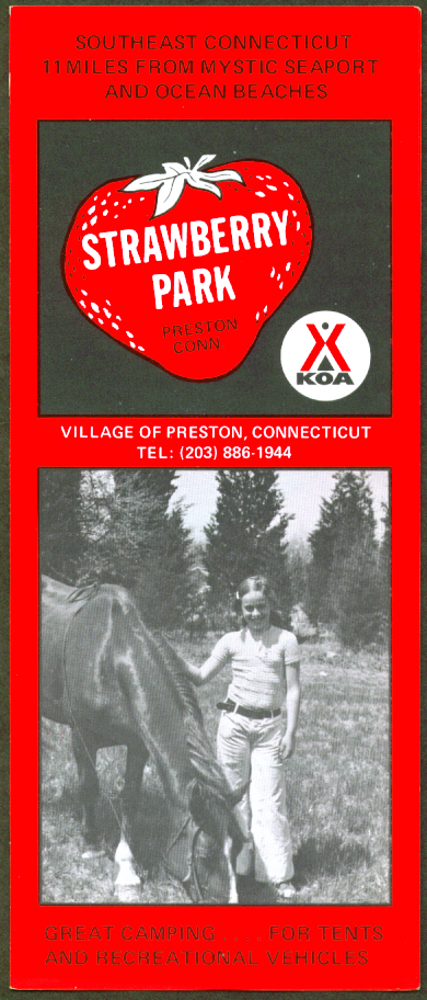 Strawberry Park Campground Preston CT folder 1960s