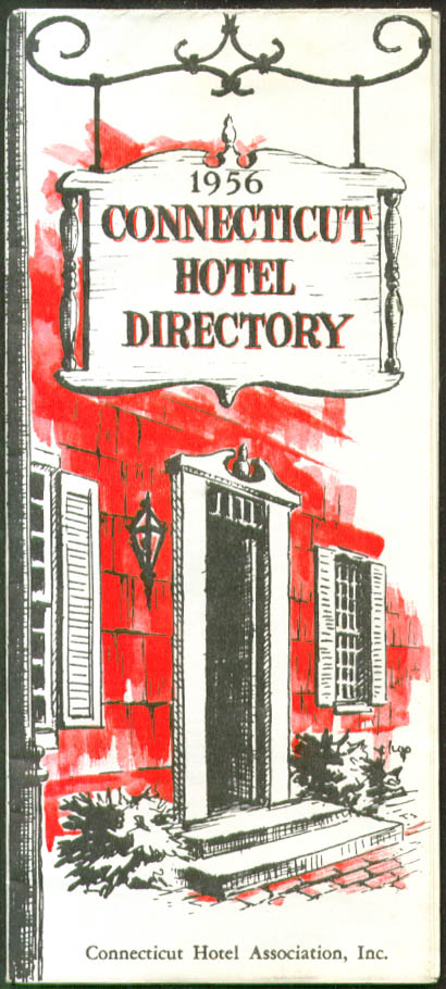 Connecticut Hotel Motel Resort Directory & Map 1956