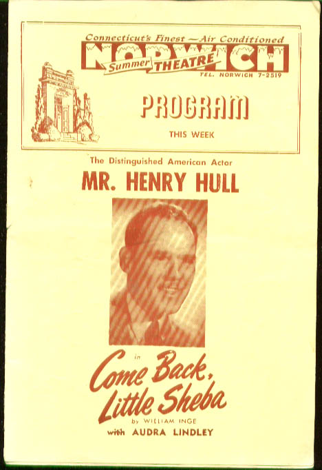 Henry Hull Come Back Little Sheba Norwich CT 1951