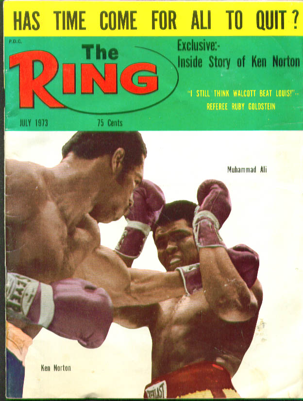 RING Muhammad Ali-Norton Walcott-Louis 7 1973