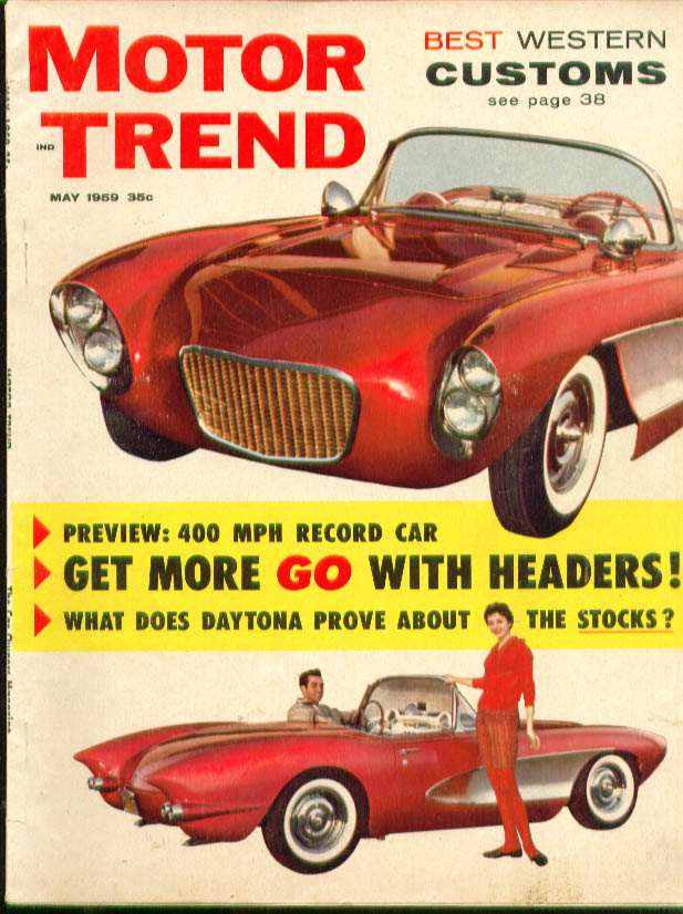 MOTOR TREND Mickey Thompson Reventlow Daytona 5 1959