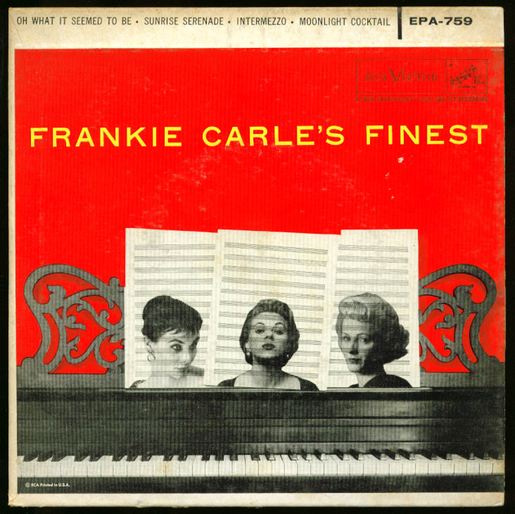 Frankie Carle's Finest 45rpm record RCA EPA-759 1956