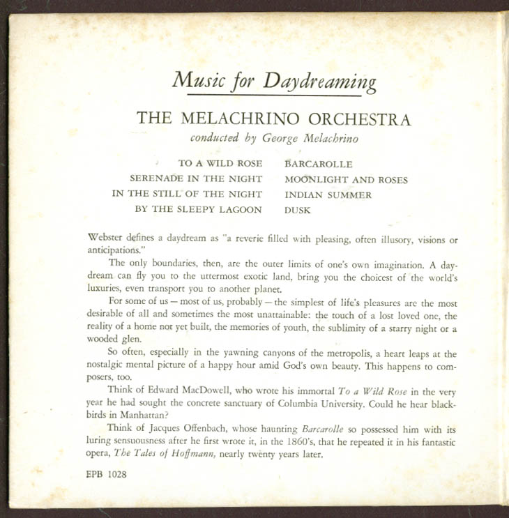 Image for Melachrino Orchestra Music for Daydreaming 45rpm set