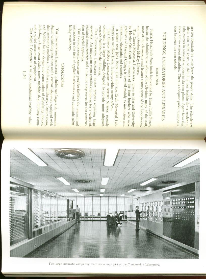 Harvard U Div Applied Science Register 1/7 1953
