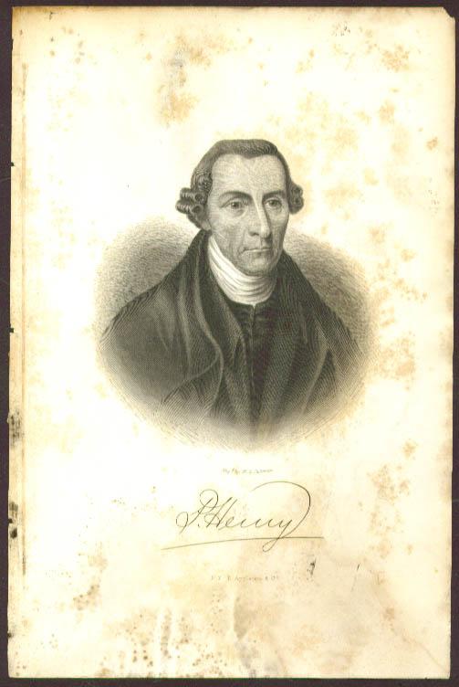 Patrick Henry engraving W G Jackman 1857