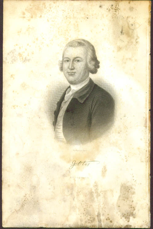 James Otis engraving by W G Jackman 1857