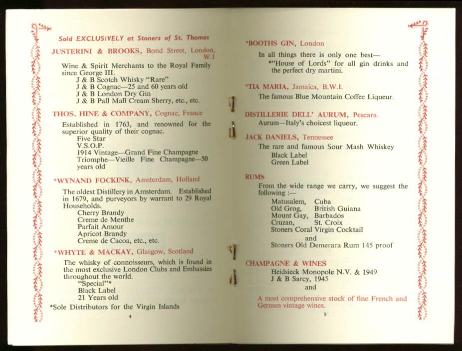 Stoners of St Thomas USVI Catalog 1950s
