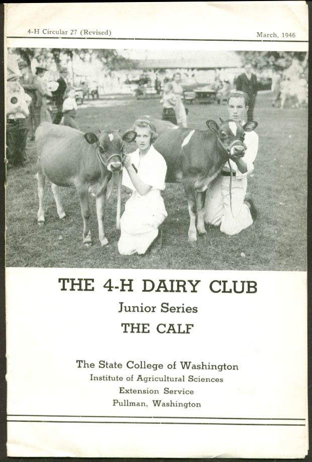 4-H Dairy Club Jr Series The Calf Pullman WA 3 1946
