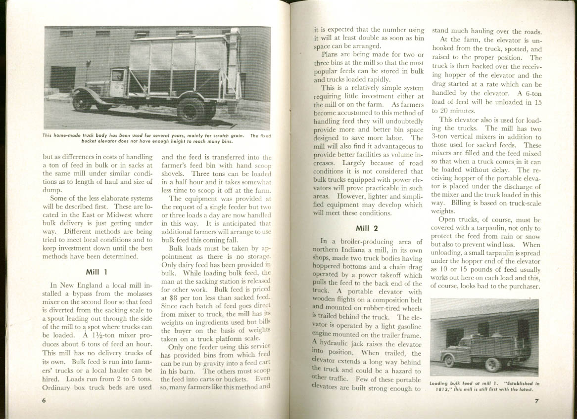 Delivering Feed in Bulk USDA Circular C-143 1 1952