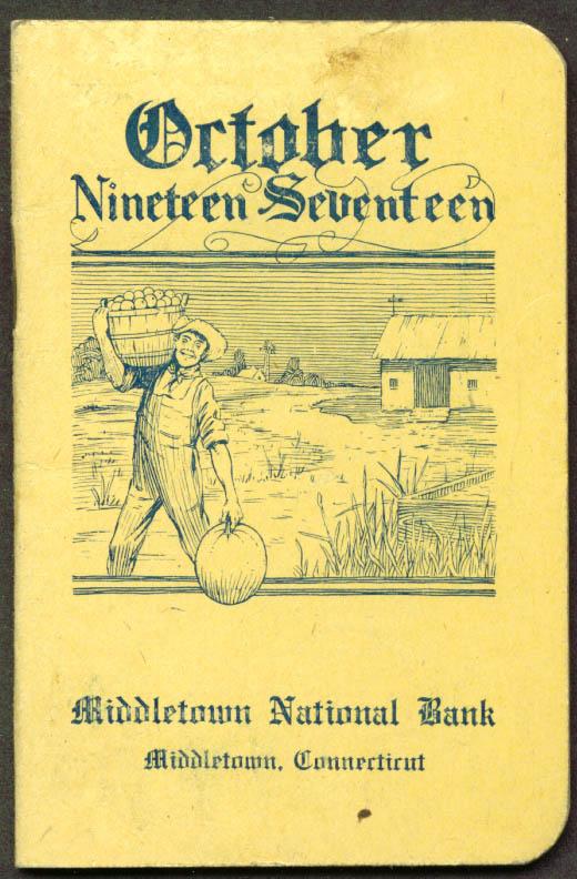 Middletown Savings Bank Pocket Memo October 1917 CT
