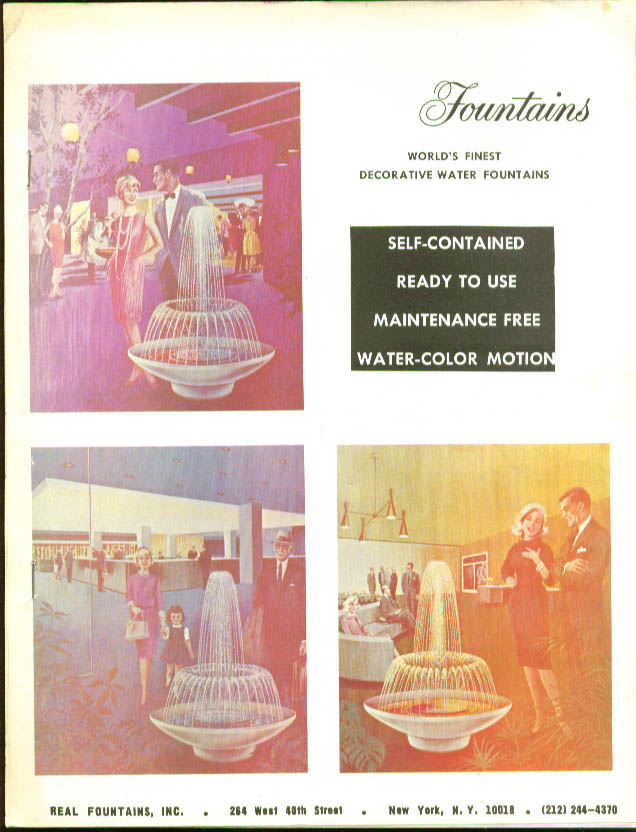 Real Fountains Water-Color Motion catalog 1974