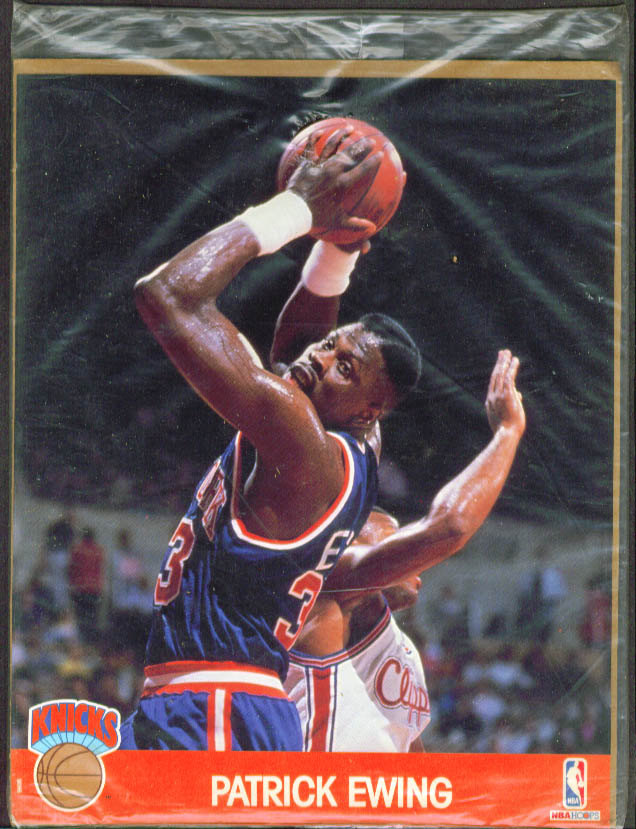 New York Knicks Patrick Ewing NBA Action Photo
