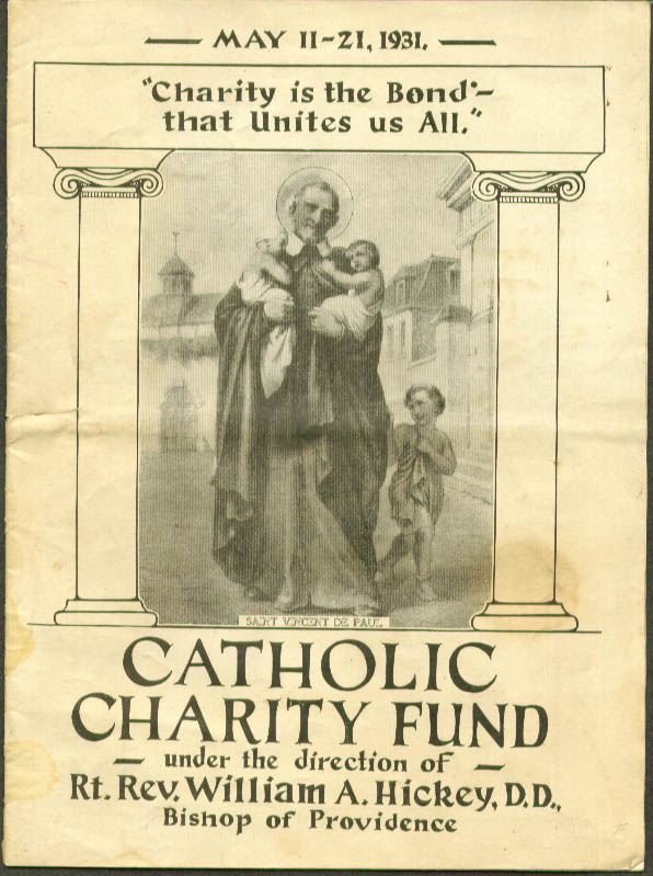 Catholic Charity Fund Providence RI Appeal 1931