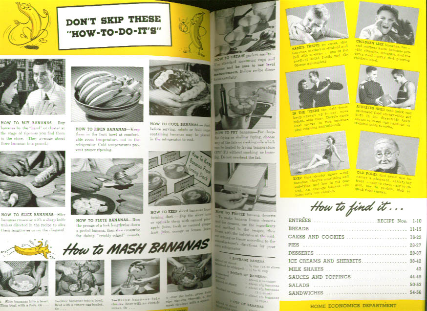 Bananas & How to Serve Them Fruit Dispatch booklet 1941