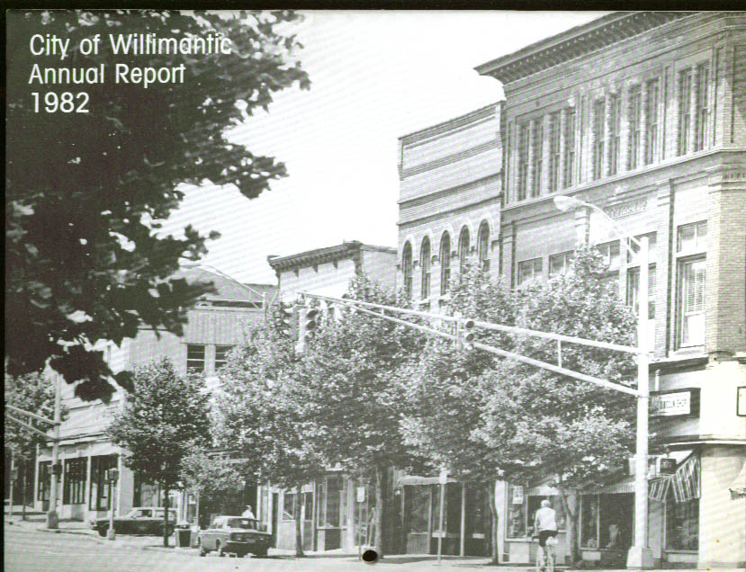 City of Willimantic CT Annual Report 1982