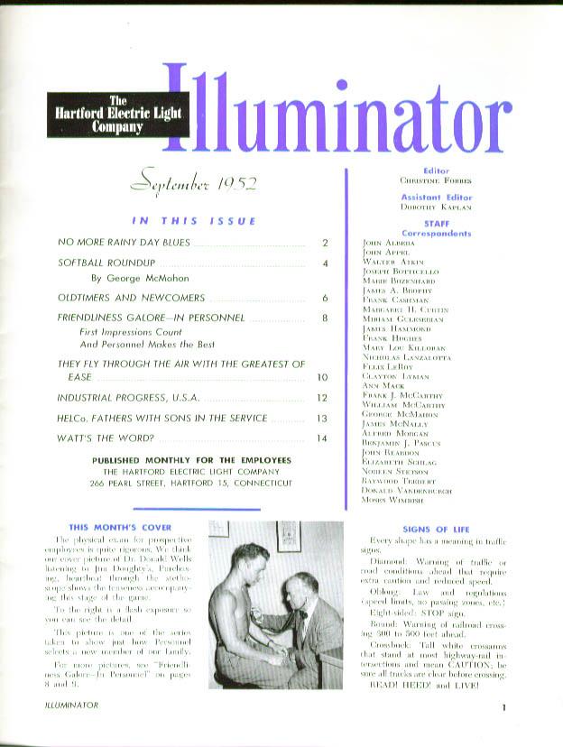 ILLUMINATOR Softball Lineman School HELCO 9 1952