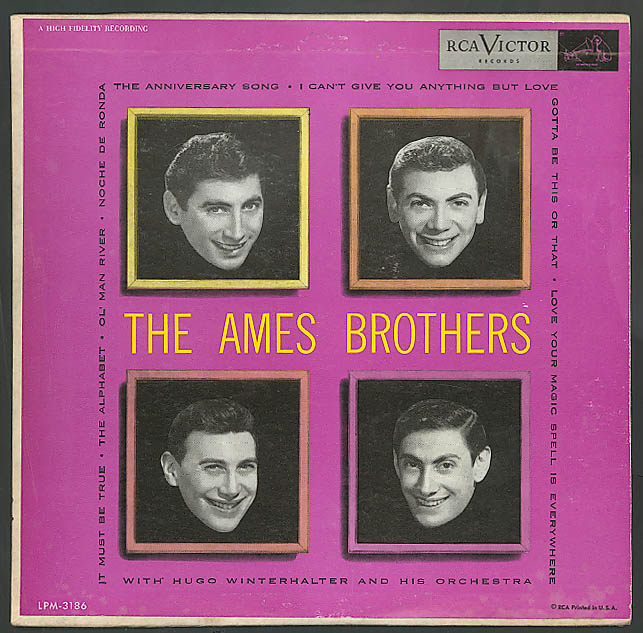 Image for The Ames Brothers 33rpm RCA Victor record 1950s