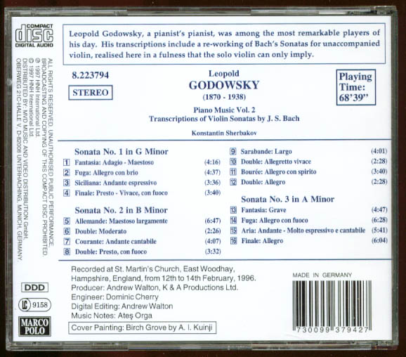 Image for Leopold Godowsky Piano Music V3 Marco Polo 8.223794