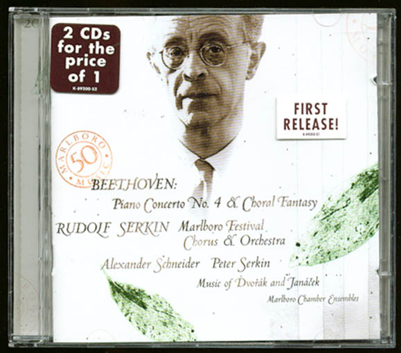Image for Serkin: Beethoven Piano Concerto #4 Dvorak Janacek CD