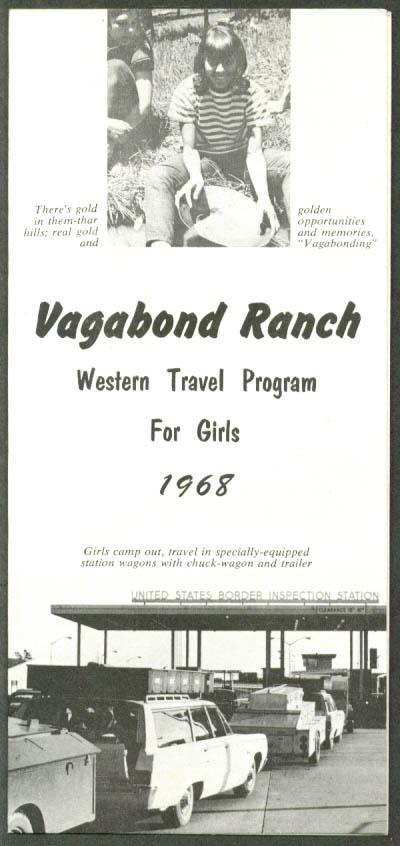 Vagabond Ranch Western Travel for Girls folder 1968