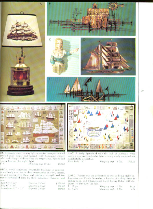 Mystic Seaport Stores nautical gift catalog 1973 CT