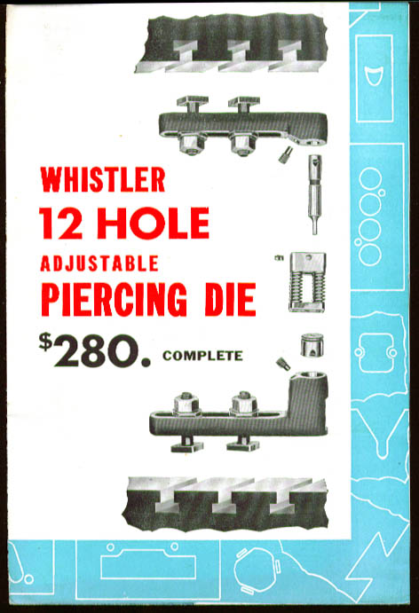 Whistler 12-Hole Piercing Die sales folder 1948