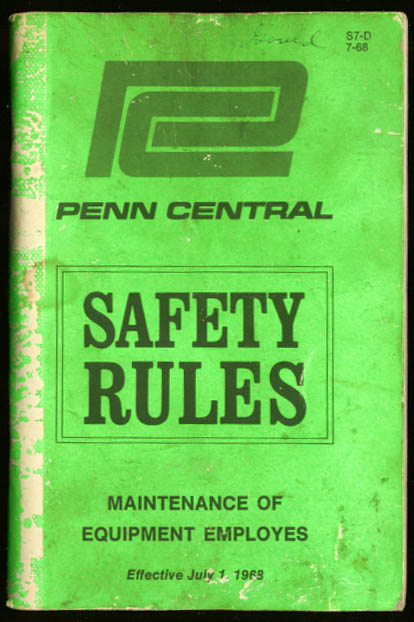 Penn Central Safety Rules book 1968