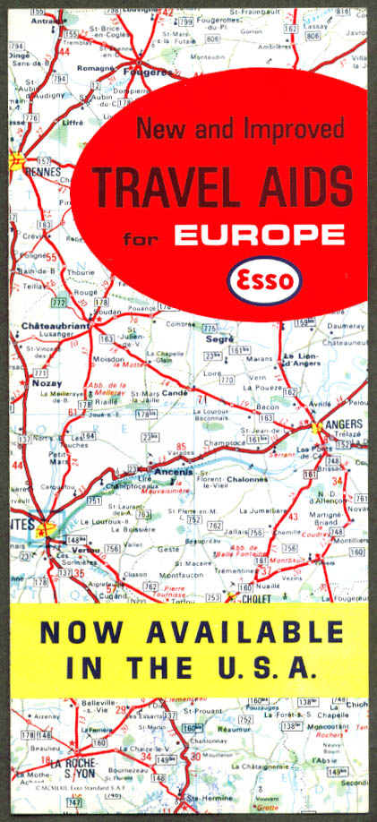 Esso Travel Aids for Europe folder 1963