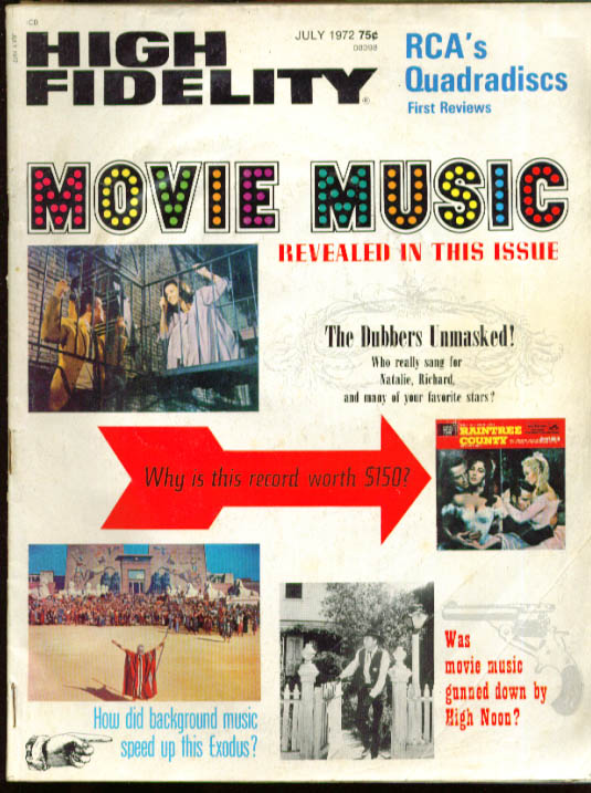 HIGH FIDELITY Movie Music Issue 7 1972