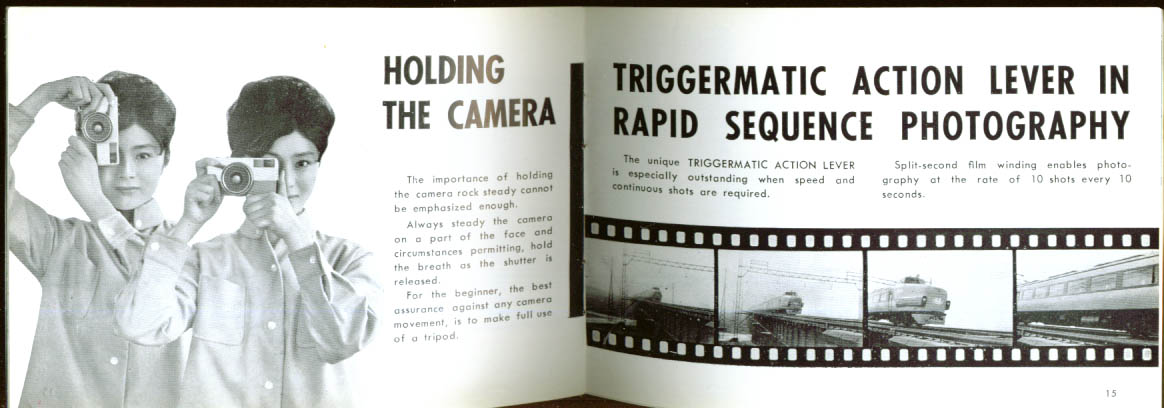 Ricoh Auto 35 Camera Instruction booklet 35mm 1960s