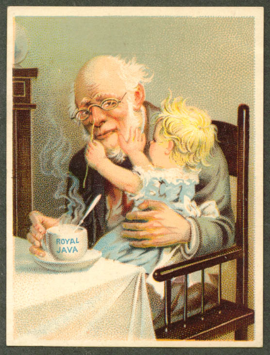 Grandpa & baby Dwinell Hayward Royal Java card 1880s