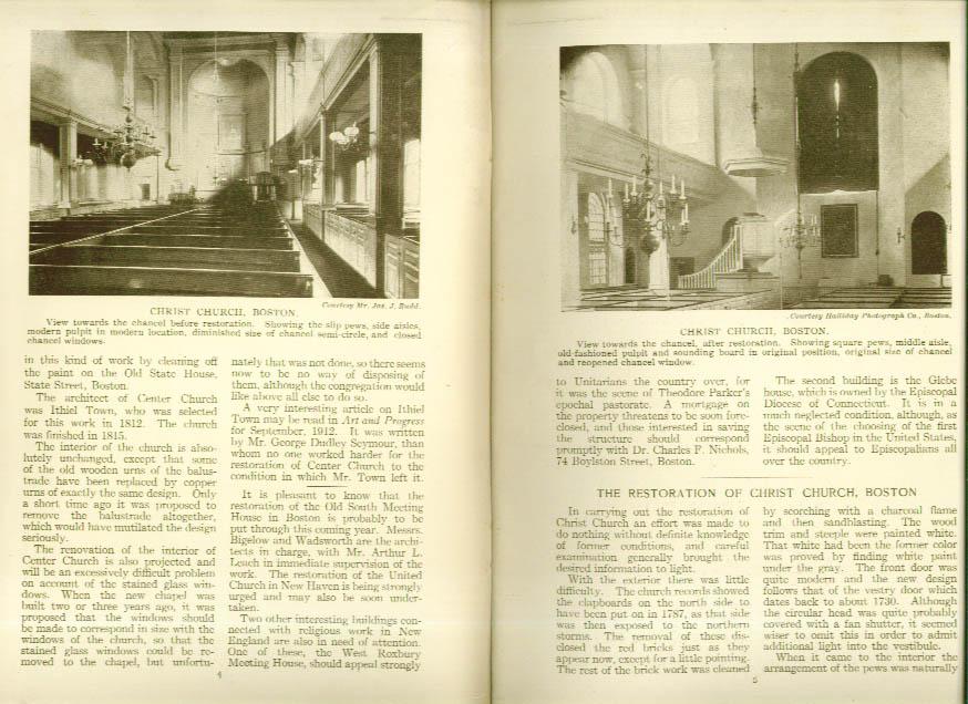 Center Church New Haven CT SPNEA 1913 Bulletin