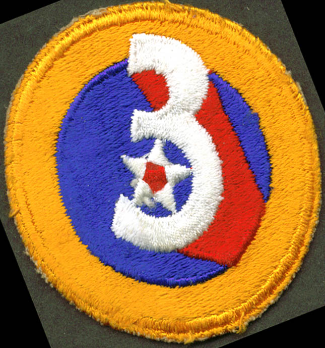 Image for US Army 3rd Air Force shoulder patch USAAF