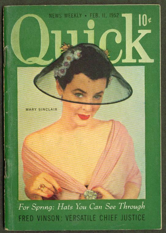 QUICK Justice Vinson Spring Hats 2/11 1952