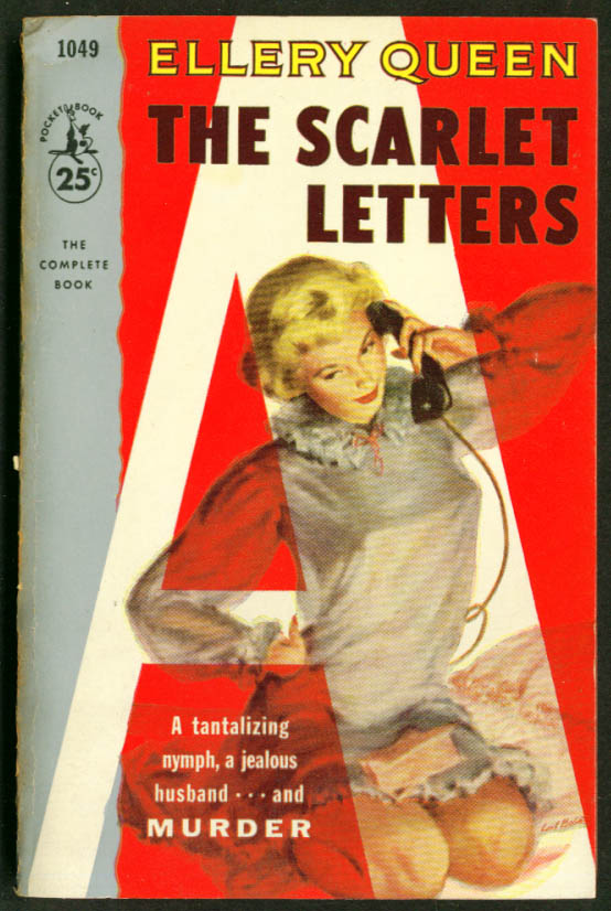 Ellery Queen The Scarlet Letters GGA pb blonde nightie
