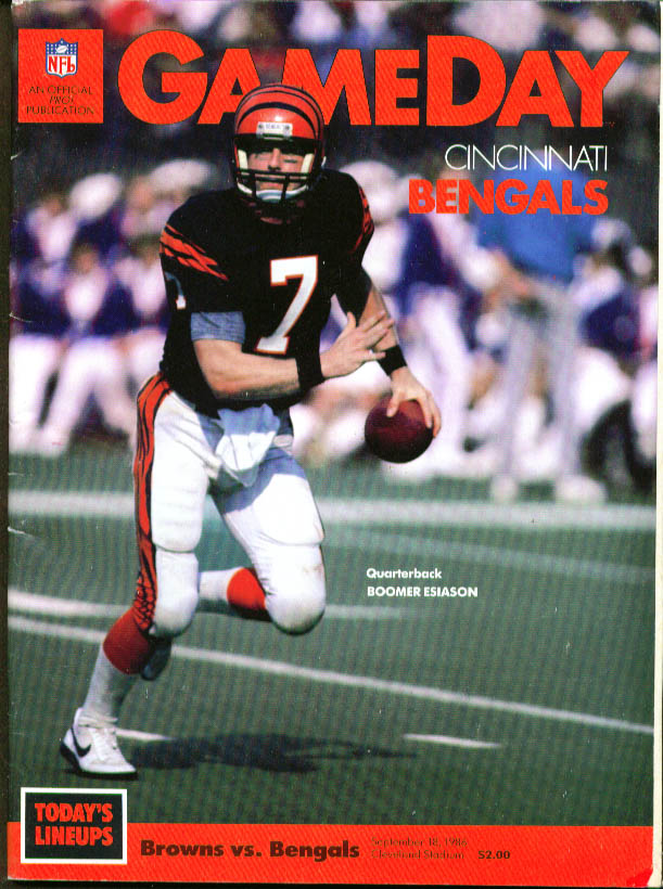 Cincinnati Bengals v Cleveland Browns GAMEDAY 1986