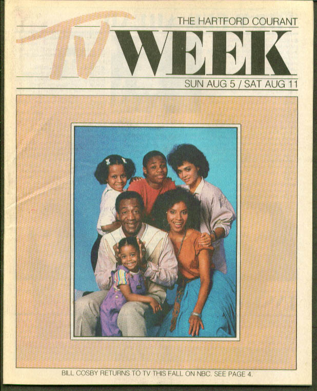 TV WEEK Bill Cosby Show Hartford Courant 8/5 1984