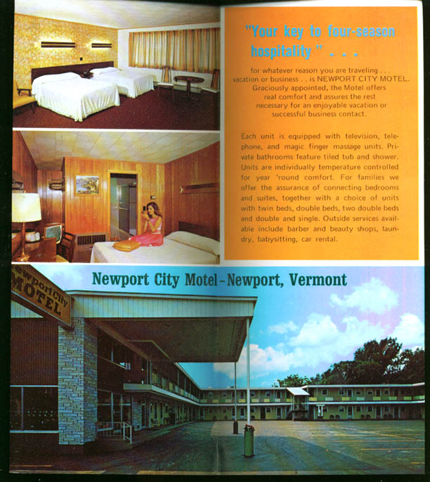 Newport City Motel Newport VT folder 1975