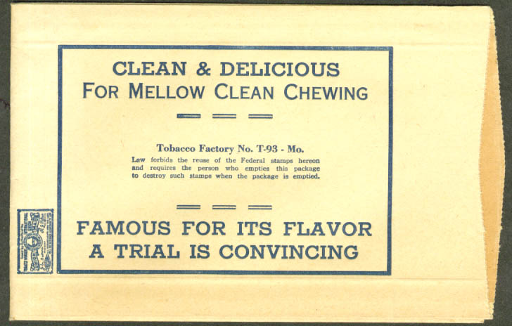 CM Chewing & Smoking Cigar Clippings envelope MO