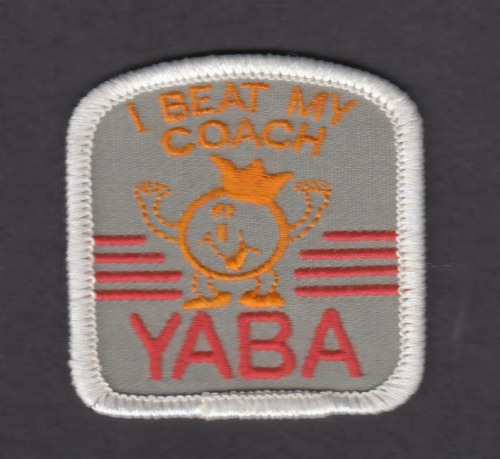 Image for YABA Bowling I Beat My Coach red-grey-yellow patch