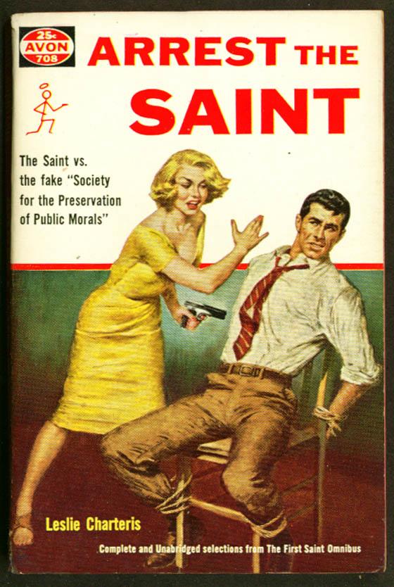 Charteris: Arrest the Saint GGA pb man tied blonde slap
