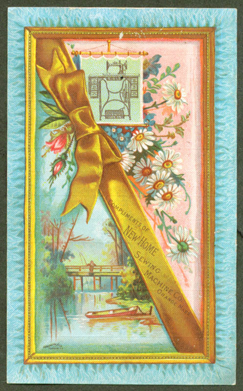 Image for New Home Sewing Machine trade card Orange MA 1880s