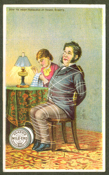 Image for Husband tied up Clark's Mile-End Thread trade card