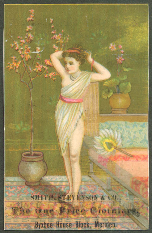 Image for Semi-nude girl Smith Stevenson Clothier Meriden CT #2