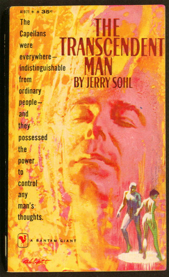 Jerry Sohl: The Transcendent Man sci-fi pb 1959 nude