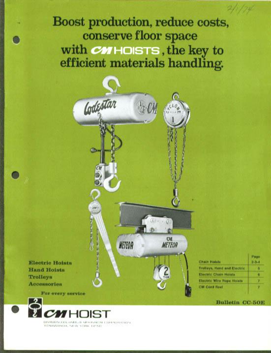 CM Columbus McKinnon Hoist catalog 1974