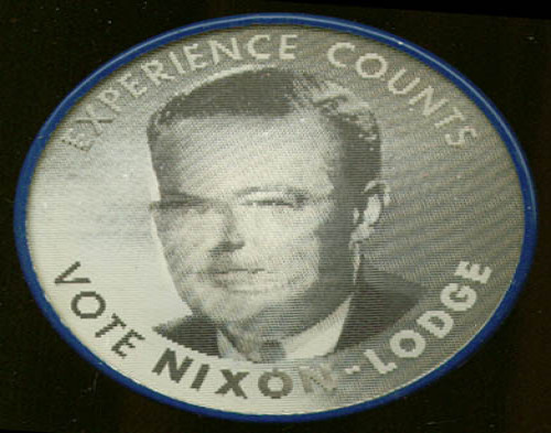 Experience Counts Nixon-Lodge Vari-vue pinback 1960