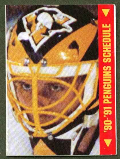 Pittsburgh Penguins 1990-1991 pocket schedule