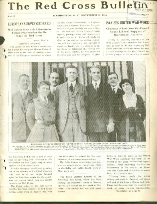 Balkans Wisconsin Fires RED CROSS BULLETIN 11 11 1918